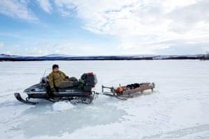 Frozen Köakämä river