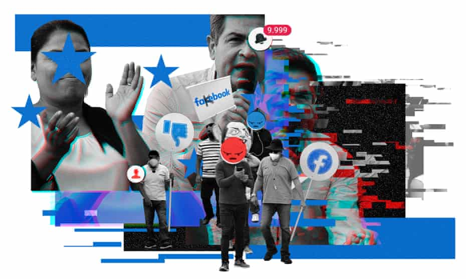 collage of political images from honduras