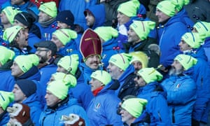 Italy fans watch their team lose to Scotland in the Six Nations.