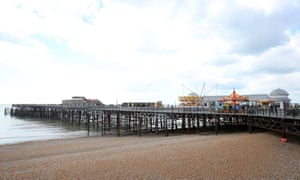 Hastings Pier, which has now reopened after eight years of closure. East Sussex, UK