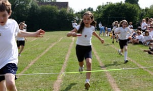 An egg-and-spoon race