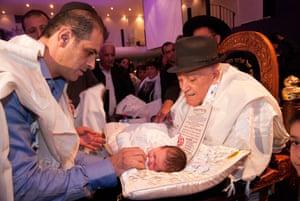 A Jewish circumcision ceremony in Jerusalem.