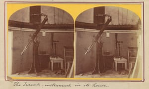 Photographs of a transit instrument used on one of the US transit of Venus expeditions