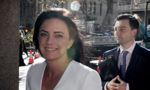 Former Federal MP Emma Husar arrives at the federal court in Sydney on Monday.