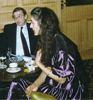 Model Pam Lucas, aged 39, in a purple jacket and skirt