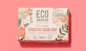 Biodegradable eco warrior sensitive facial bar