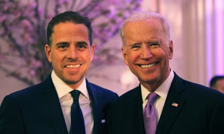World Food Program USA's Annual McGovern-Dole Leadership Award Ceremony<br>WASHINGTON, DC - APRIL 12: World Food Program USA Board Chairman Hunter Biden (L) and U.S. Vice President Joe Biden attend the World Food Program USA's Annual McGovern-Dole Leadership Award Ceremony at Organization of American States on April 12, 2016 in Washington, DC. (Photo by Teresa Kroeger/Getty Images for World Food Program USA)