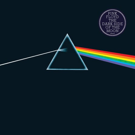 The album cover for The Dark Side of the Moon.