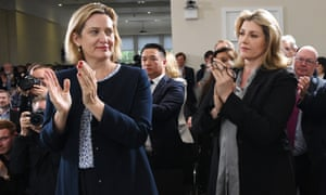 Amber Rudd and Penny Mordaunt clapping