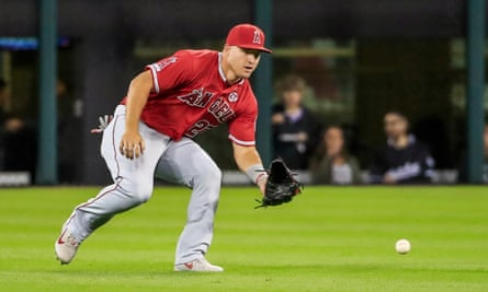 Mike Trout's Los Angeles Angels recorded the most positive tests