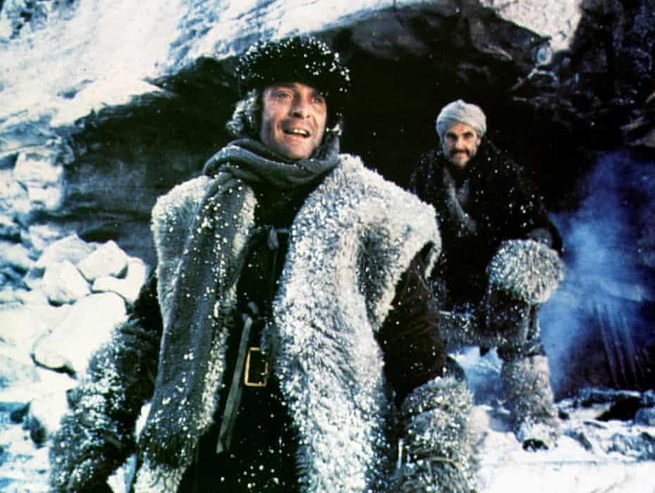 With Sean Connery in The Man Who Would Be King.