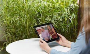 Sky Q streaming TV on a tablet