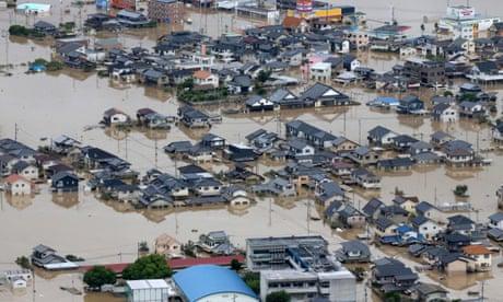 Torrential rain causes flooding as Typhoon Hagibis hits Japan – video