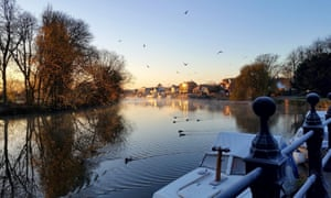A cold winter's morning cycling along the national cycle route from Oxford to Abingdon.