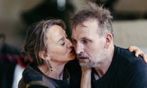 In rehearsal for Macbeth with Niamh Cusack.