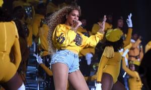 Uncrampable style ... Beyoncé performing at Coachella.