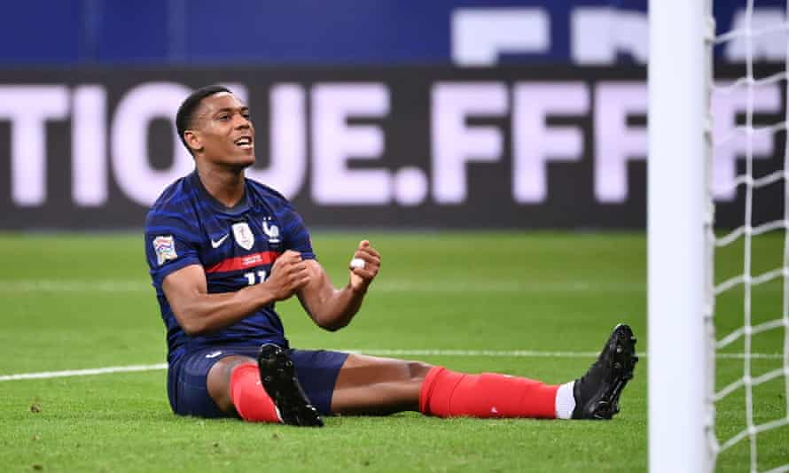Martial has not scored in five Nations League appearances this season.
