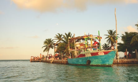 The boat to Caye Caulker.