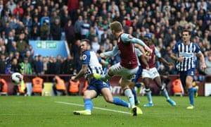 Matt Targett fires in a late winner for Villa.