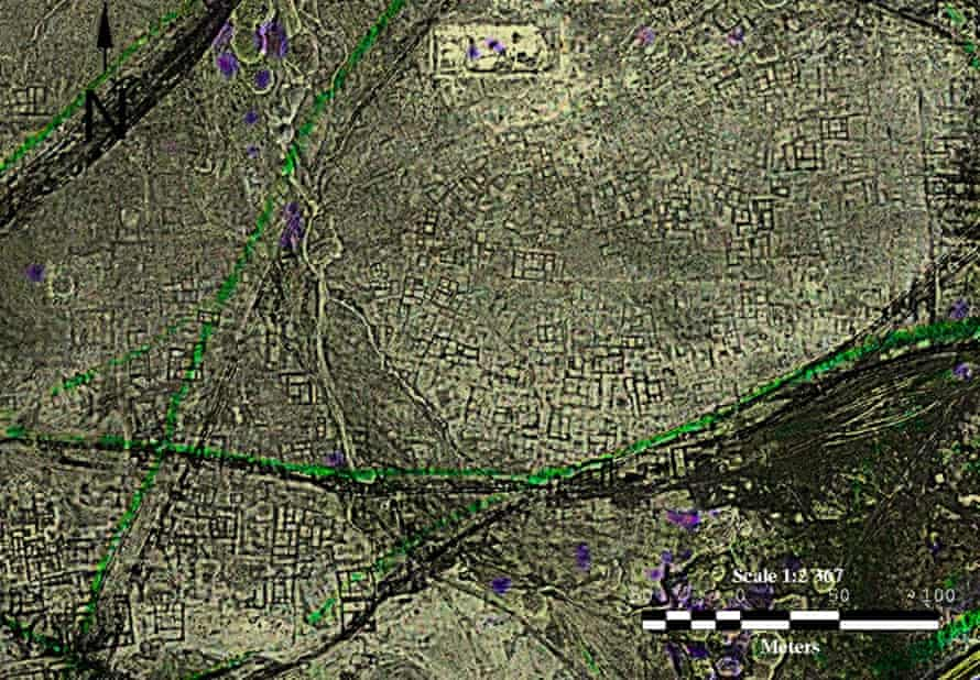 satellite imagery of the remains of the city of tanis