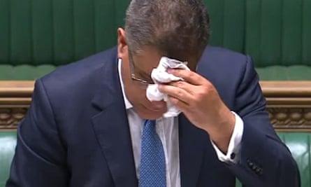 Alok Sharma in parliament