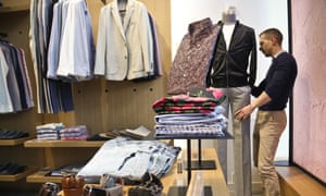 Inside a Bonobos 'guide-shop'. Customers can either place orders online or visit one of these shops to have their clothing fitted, then delivered.