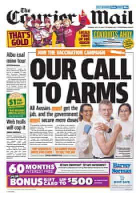The Courier Mail's Our call to arms front page
