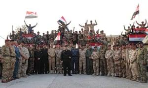 Iraqi prime minister Haider al-Abadi announces victory in Mosul on Sunday.