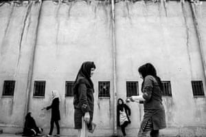 The girls can come to the prison yard for one hour in the morning and one hour in the evening. Waiting for Capital Punishment Sadegh Souri