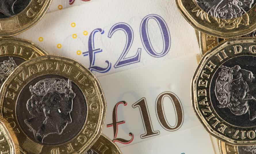 Pound coins and £10 and £20 notes