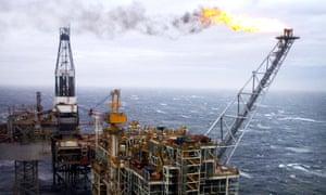 a north sea oil rig