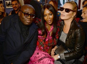 The Burberry 2018 frow: Edward Enninful, Naomi Campbell and Kate Moss.