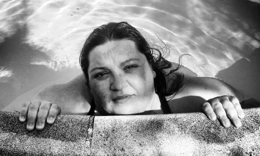 'We started doing pictures of me in a pool so I could accept how I looked in a swimsuit': Gabrielle couldn't even look at an image of herself until six months ago