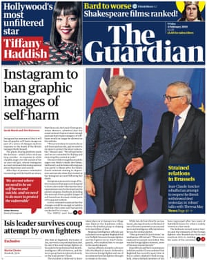 Guardian front page, Friday 8 February 2019