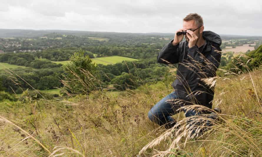 Richard Fox of Butterfly Conservation on Denbies Hillside, Surrey.