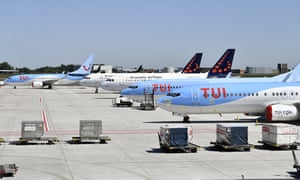 Tui planes at an airport