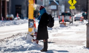 A pedestrian braves the cold on Wednesday in Minneapolis, Minnesota.