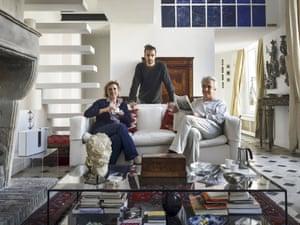Pantaleone family, uncles and nephews, Paris, France, 2020.