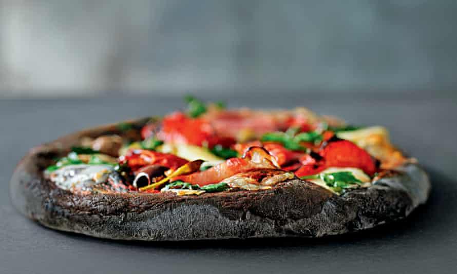 Waitrose charcoal pizza.