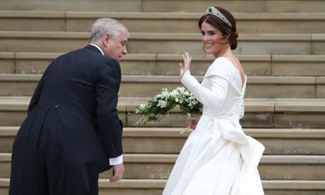 Princess Eugenie Wedding Televised.First Glimpse Of Princess Eugenie S Wedding Dress Video