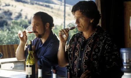 Paul Giamatti (as Miles) and Thomas Haden Church (as Jack) in Sideways.