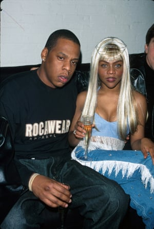 Jay Z and Lil Kim prove that denim can be the perfect party attire at a Tommy Jeans party in 1999.