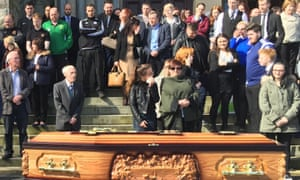 Funeral of Belfast taxi driver Michael McGibbon on 21 April 2016.