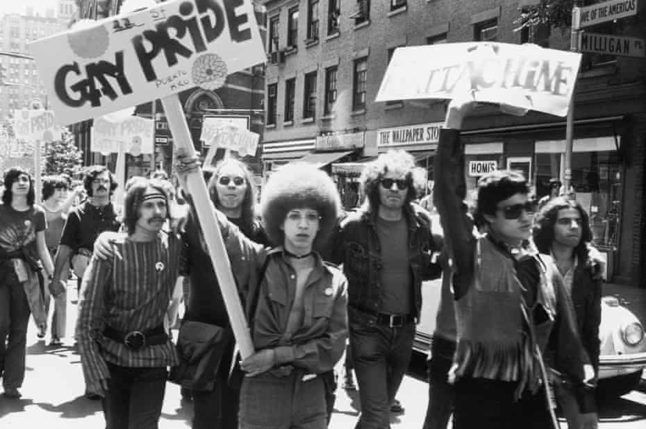 Christopher Street Liberation Day, the first Gay Pride march, in New York City on 28 June 1970.