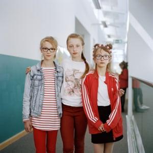 Hanna, Victoria and Kamila at Polish Saturday school in Walsall, May 2018.