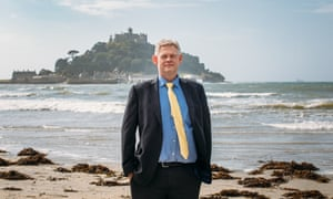 Bill Marshall with St Michael's Mount in the background