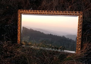 Lauren Smewing: Reflective View of Newlands Corner Guildford, Surrey, England  An ornate mirror introduces both a different viewpoint and an additional light source, bringing another dimension and a touch of the surreal to this scene in the Surrey Hills. Your view, youth class, highly commended