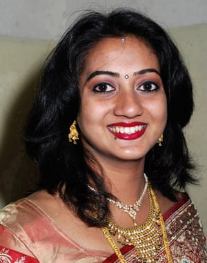 Indian dentist Savita Halappanavar, who died in Galway in 2012 when the hospital refused her request for a termination following miscarriage complications. The case led to protests across the republic.