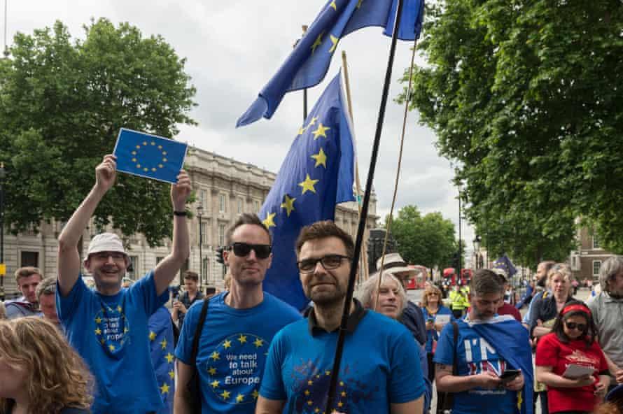 Pro-EU protests in London, 23 June 2017.