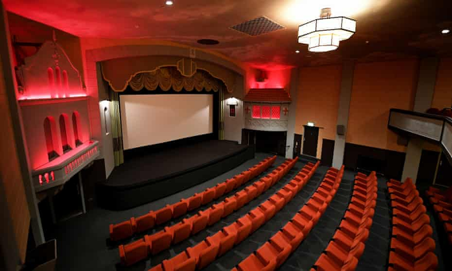 The main auditorium at Campbeltown Picture House, one of Scotland's oldest purpose-built cinemas.